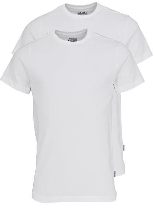 JOCKEY T-Shirt Halbarm Rundhals Single Jersey weiß