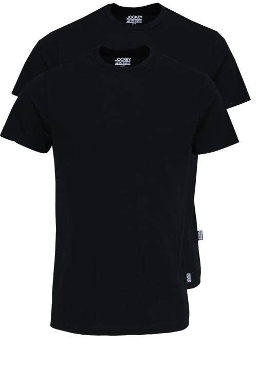 JOCKEY T-Shirt Halbarm Rundhals Single Jersey schwarz