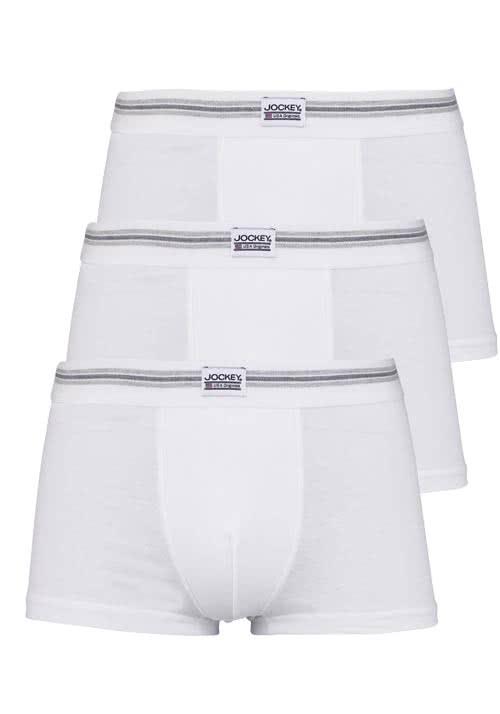 JOCKEY Short Trunk Boxershorts Single Jersey 3er Pack weiß