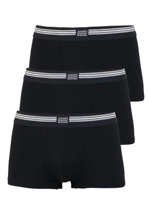 JOCKEY Short Trunk Boxershorts Single Jersey 3er Pack schwarz