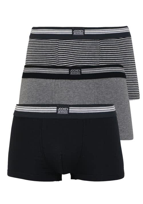 JOCKEY Short Trunk Boxershorts Single Jersey 3er Pack Muster schwarz