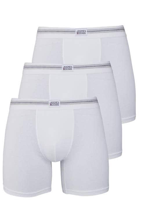 JOCKEY Boxer Trunk Boxershorts Single Jersey 3er Pack weiß