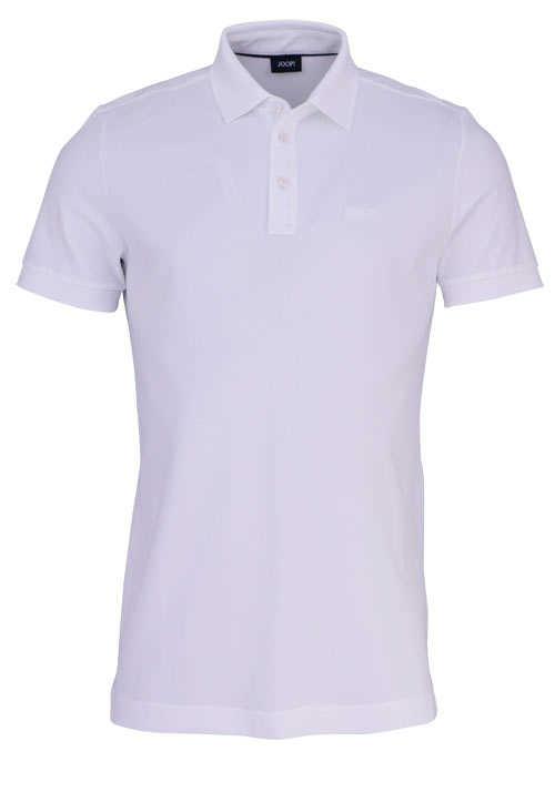 JOOP Poloshirt PRIMUS Halbarm geknöpfter Kragen Pique weiß
