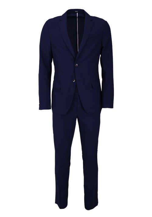 JOOP Anzug 2-teilig Reverskragen reine Schurwolle dunkelblau