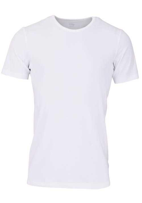 MEY Halbarm Shirt Crew Neck Atmungsaktiver Baumwollmischung weiß
