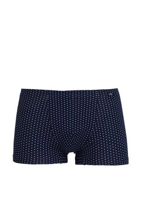 MEY Shorts Webgummibund gepunktet Baumwollmischung blau