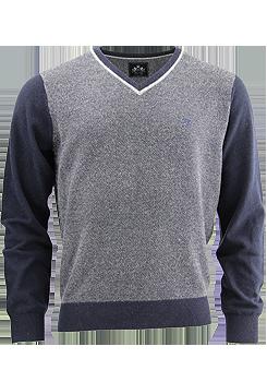 OTTO KERN Strickpullover Schurwolle Muster blau/grau 30043/43031/300