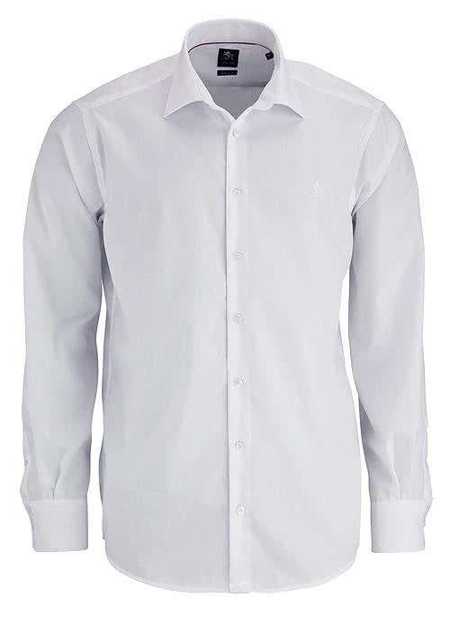 OTTO KERN Hemd Langarm New Kent mit Kragenband weiß