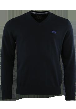 OTTO KERN Pullover V-Ausschnitt nachtblau