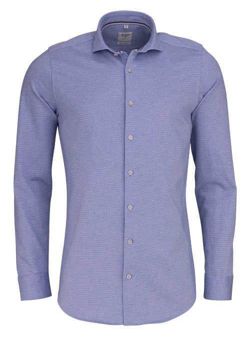 OLYMP Level Five Smart Business body fit Hemd extra langer Arm blau