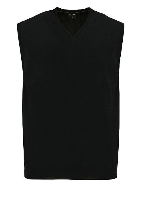 OLYMP Strick Pullunder V-Ausschnitt extrafeine Merinowolle schwarz