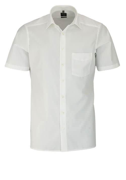 OLYMP Luxor modern fit Hemd Halbarm mit New Kent Kragen Popeline beige
