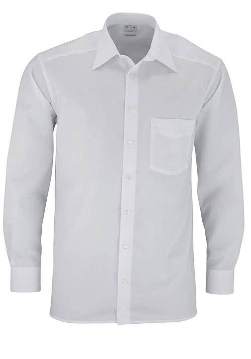 OLYMP Luxor comfort fit Hemd extra langer Arm Popeline weiß