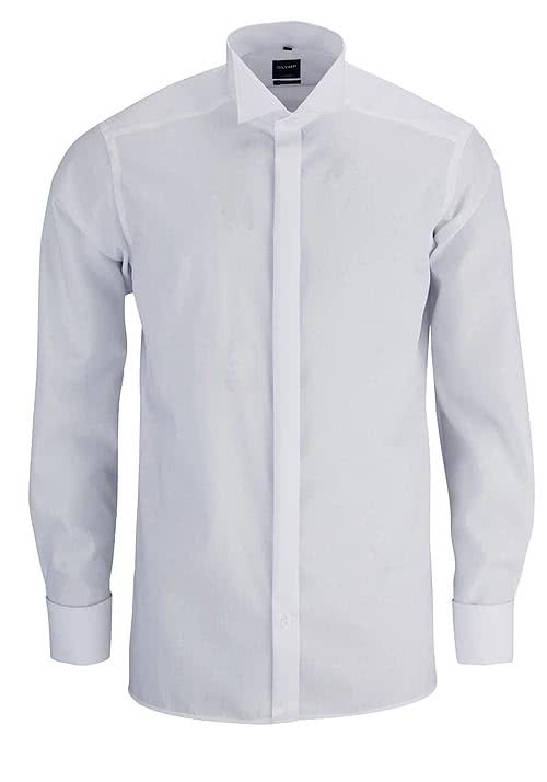OLYMP Luxor modern fit Gala Hemd extra langer Arm weiß