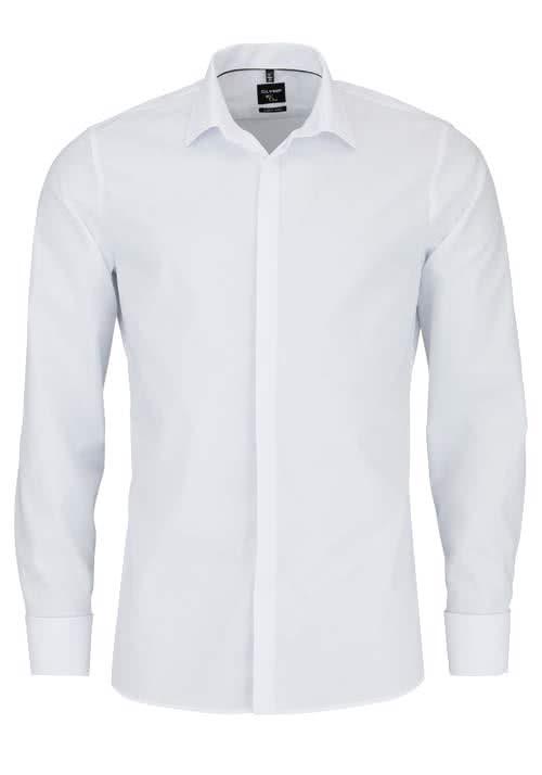 OLYMP No. Six super slim Hemd Langarm Umschlagmanschette weiß