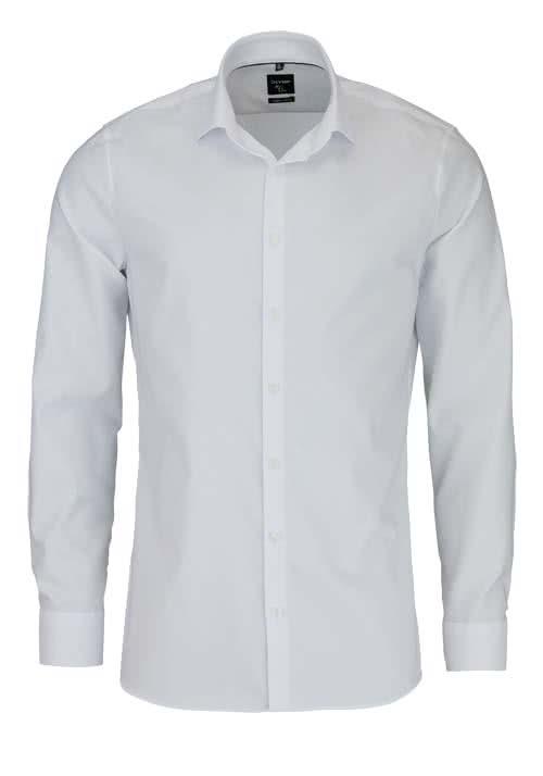 OLYMP No. Six super slim Hemd Langarm Streifen weiß