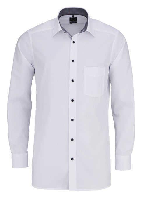 OLYMP Luxor modern fit Hemd Langarm mit Brusttasche weiß