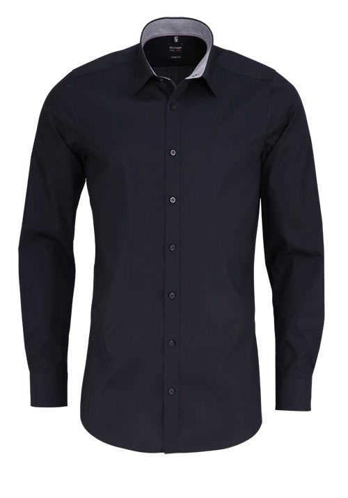 OLYMP Level Five body fit Hemd Langarm Stretch bügelleicht schwarz