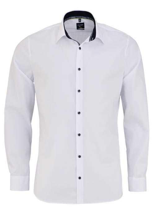 OLYMP No. Six super slim Hemd extra langer Arm Stretch weiß