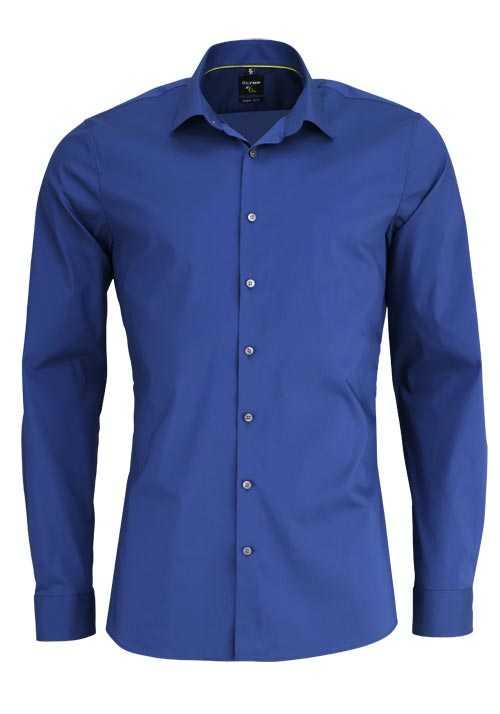 OLYMP No. Six super slim Hemd Langarm Stretch bügelleicht dunkelblau