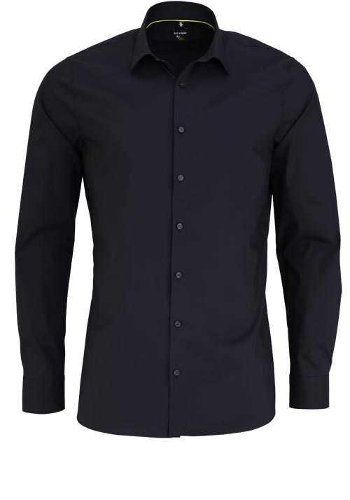 OLYMP No. Six super slim Hemd Langarm Stretch bügelleicht schwarz