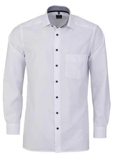 OLYMP Luxor modern fit Hemd extra langer Arm Haifischkragen weiß