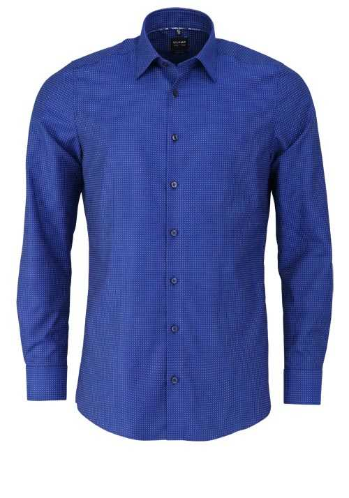 OLYMP Level Five body fit Hemd extra langer Arm Punkte dunkelblau