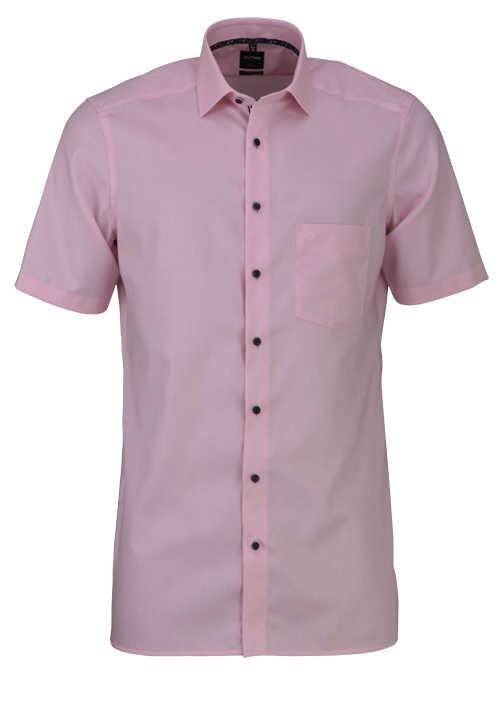 OLYMP Luxor modern fit Hemd Halbarm New Kent Kragen rosa