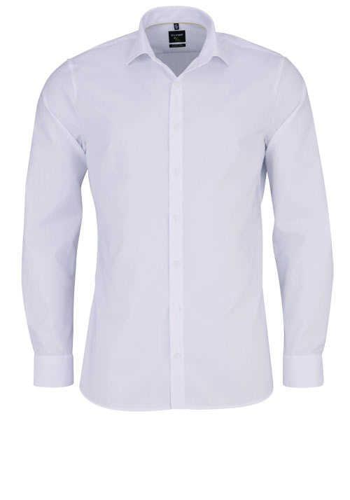 OLYMP No. Six super slim Hemd extra langer Arm Karo weiß