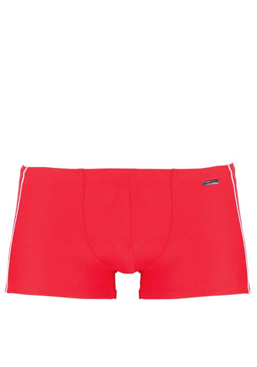 OLAF BENZ Beachpants mit Ziersteifern an der Seite rot