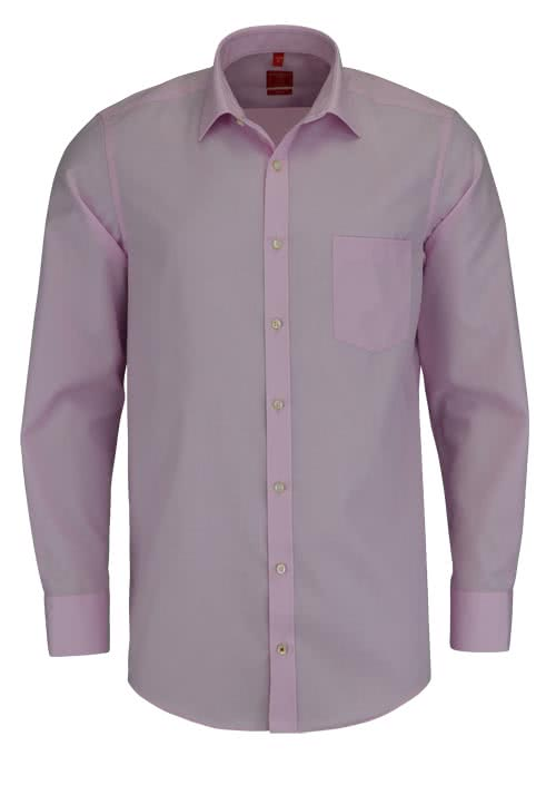 REDMOND Office Hemd Langarm mit New Kent Kragen rosa