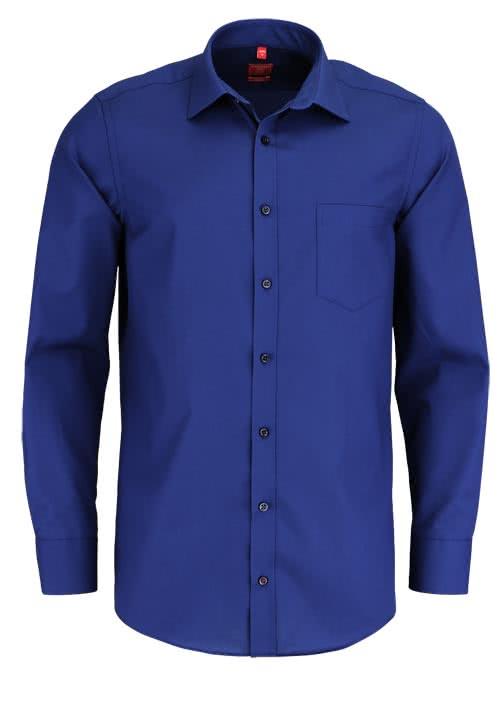 REDMOND Office Hemd Langarm mit New Kent Kragen dunkelblau