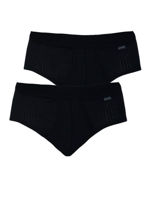SCHIESSER Sportslip Essentials Authentic Doppelpack schwarz