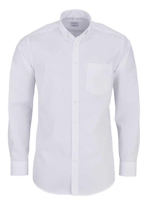 SEIDENSTICKER Modern Hemd Langarm Button Down Kragen Fi là Fil weiß