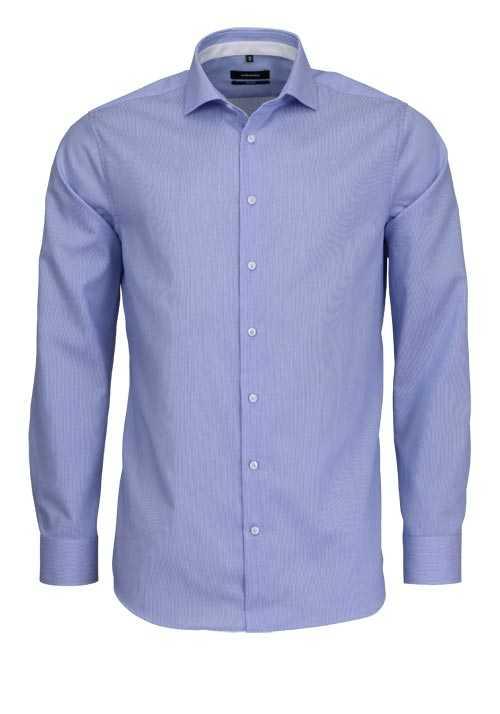 SEIDENSTICKER Tailored Hemd extra langer Arm Struktur hellblau
