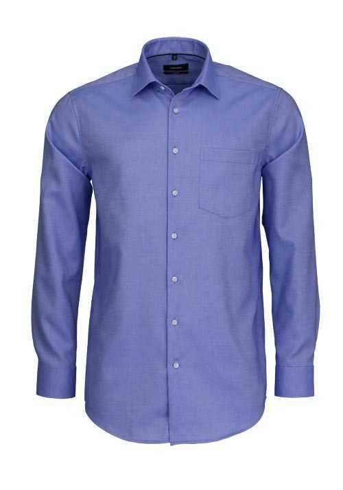 SEIDENSTICKER Modern Hemd extra langer Arm Struktur hellblau
