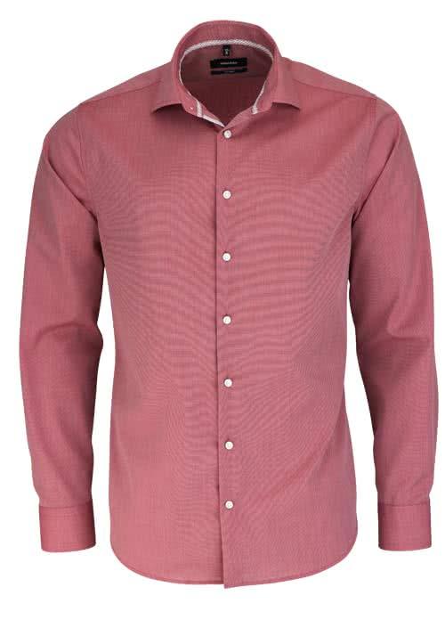 SEIDENSTICKER Tailored Hemd extra langer Arm New Kent Kragen mittelrot