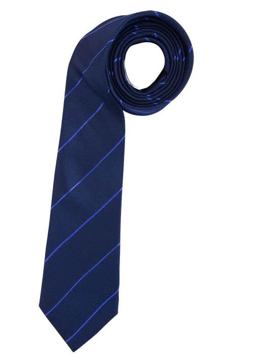 SEIDENSTICKER Krawatte aus reiner Seide 7 cm breit Streifen dunkelblau