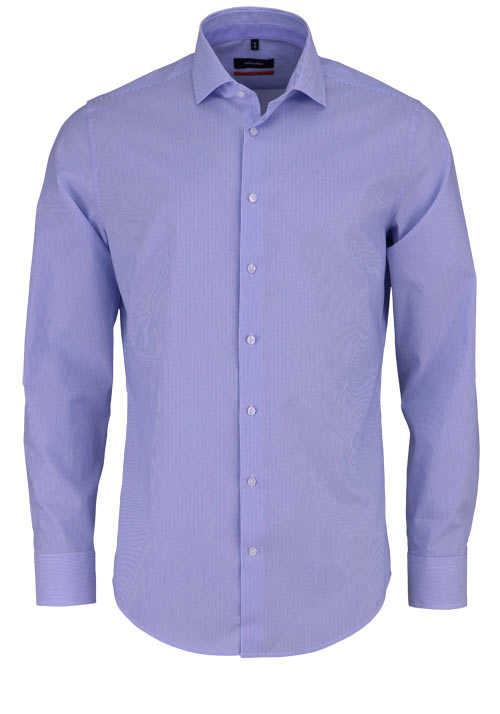 SEIDENSTICKER Slim Hemd extra langer Arm Streifen blau