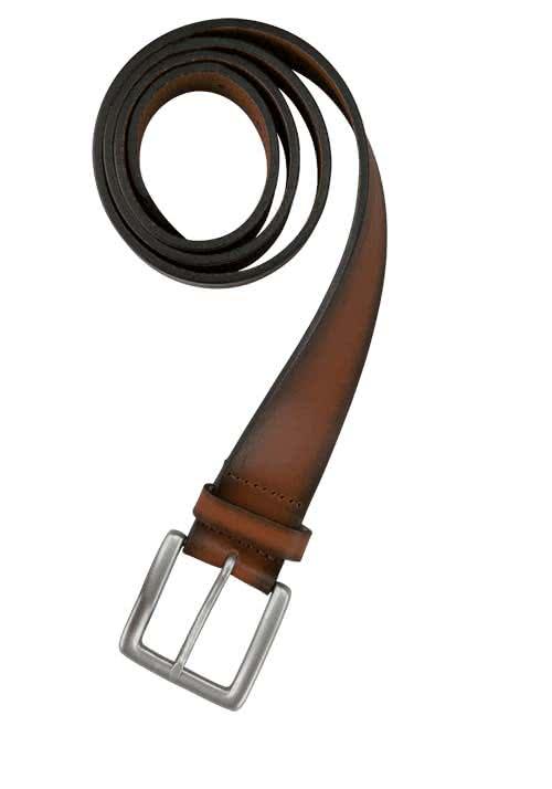 SCHUCHARD & FRIESE Casual Herrengürtel 4 cm Leder dunkelbraun