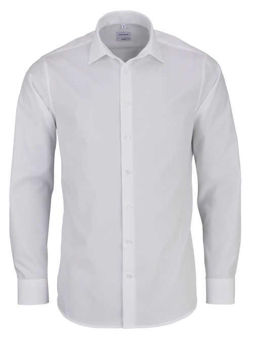 SEIDENSTICKER Tailored Hemd extra langer Arm Popeline weiß