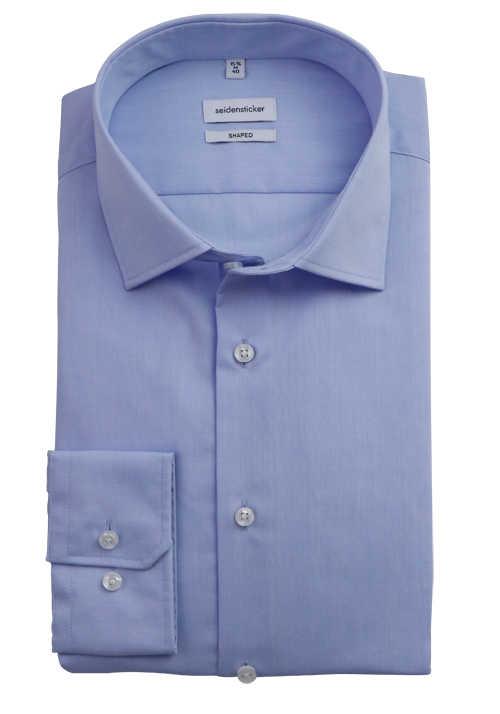 SEIDENSTICKER Tailored Hemd extra langer Arm Popeline hellblau