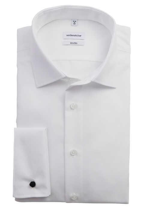 SEIDENSTICKER Tailored Hemd extra langer Arm Basic Kent Kragen weiß