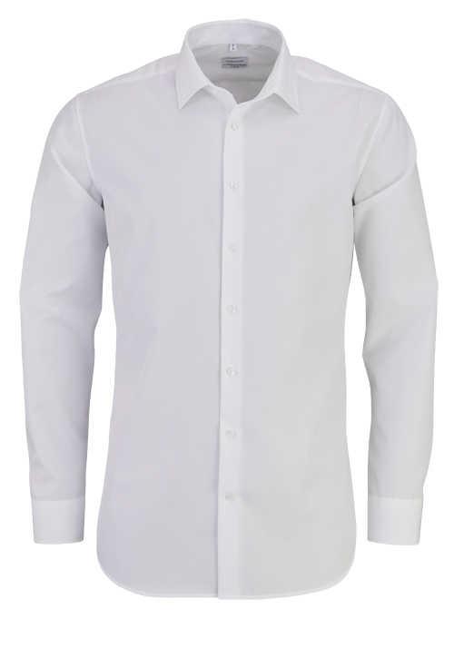 SEIDENSTICKER X-Slim Hemd extra langer Arm Fil a Fil weiß