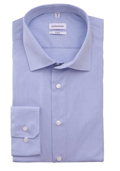 SEIDENSTICKER X-Slim Hemd extra langer Arm Fil a Fil hellblau