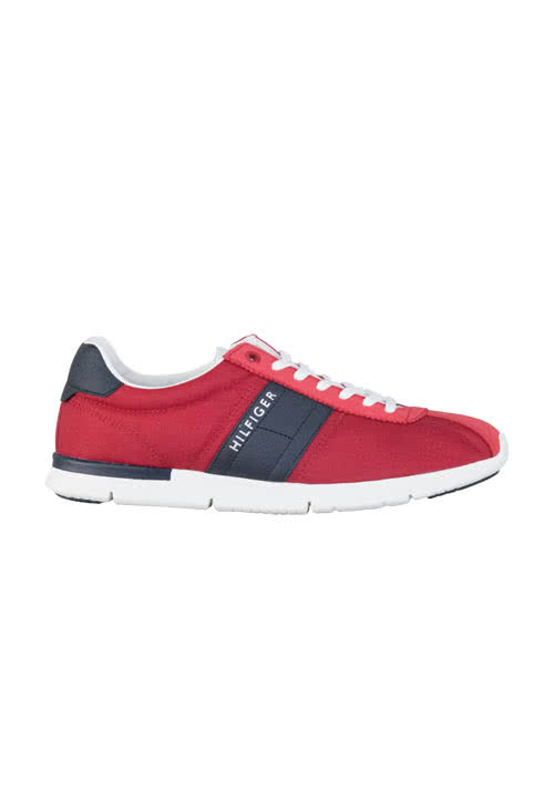 TOMMY HILFIGER Sneaker TOBIAS Materialmix Schnürer rot