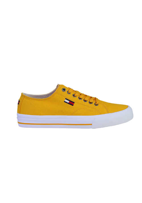 TOMMY HILFIGER Sneaker Schnürer Label-Stick orange
