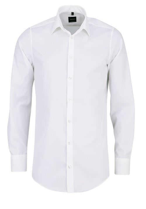 VENTI Modern Fit Hemd Basic Kent Langarm Popeline creme