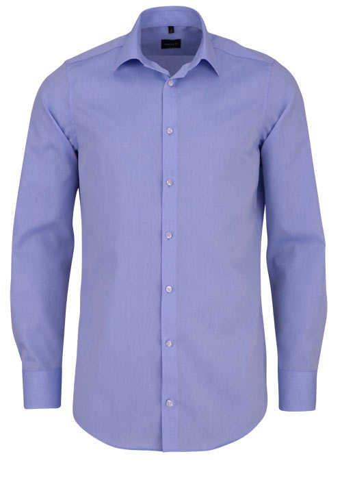 VENTI Modern Fit Hemd super langer Arm Popeline hellblau