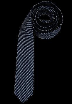 VENTI reine Seidenkrawatte 6 cm breit Streifen dunkelblau 001150/106